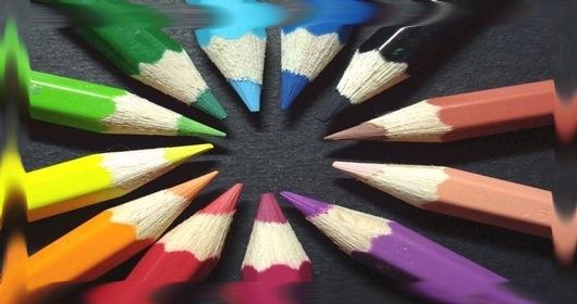 colored pencils (smudge)