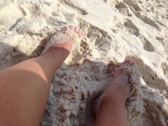 Dominic on the beach